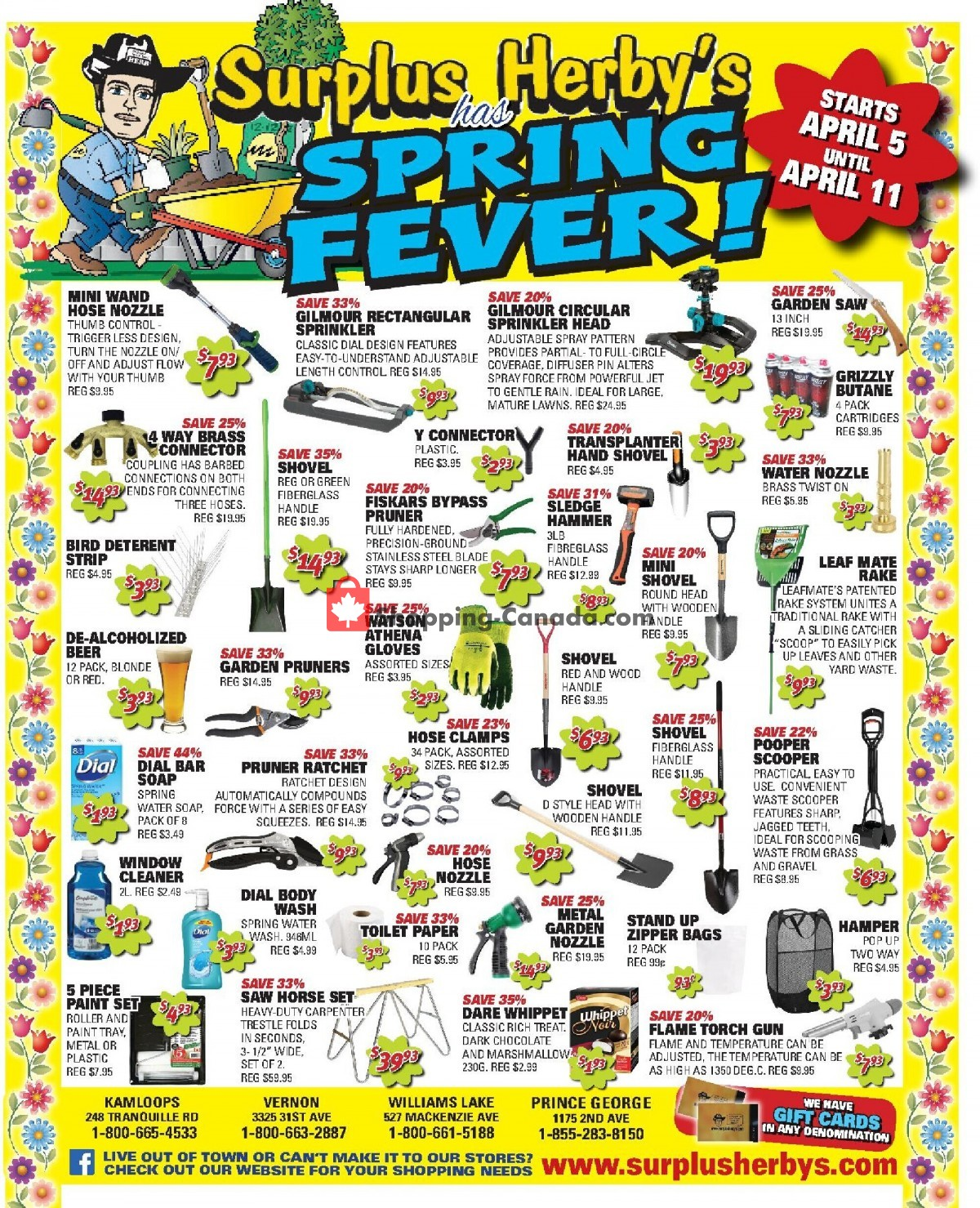 Flyer Surplus Herby's Canada - from Monday April 5, 2021 to Sunday April 11, 2021