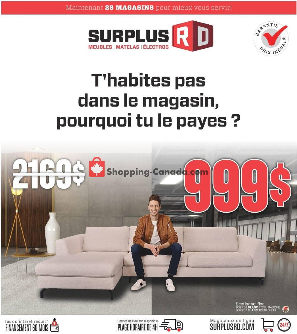 Flyer Surplus RD Canada - from Tuesday May 7, 2019 to Sunday May 26, 2019