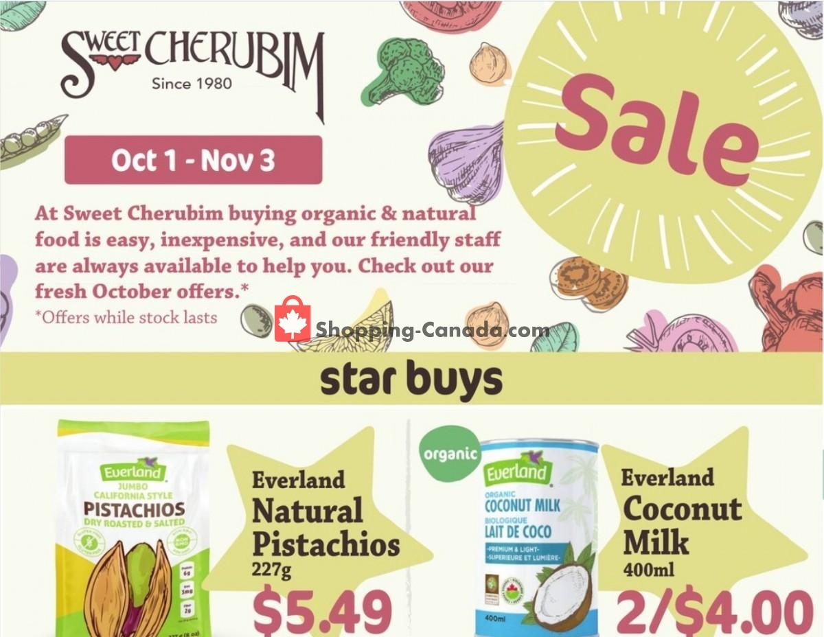 Flyer Sweet Cherubim Canada - from Friday October 1, 2021 to Wednesday November 3, 2021