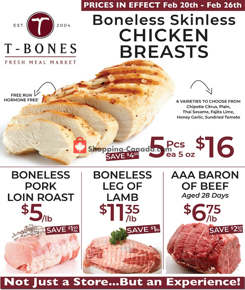 Flyer T-Bone's Canada - from Wednesday February 20, 2019 to Tuesday February 26, 2019