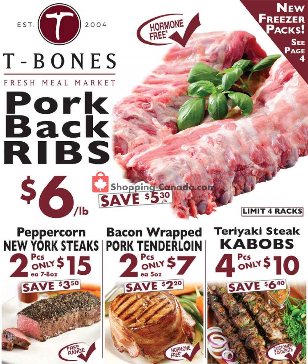Flyer T-Bone's Canada - from Wednesday October 17, 2018 to Tuesday October 30, 2018