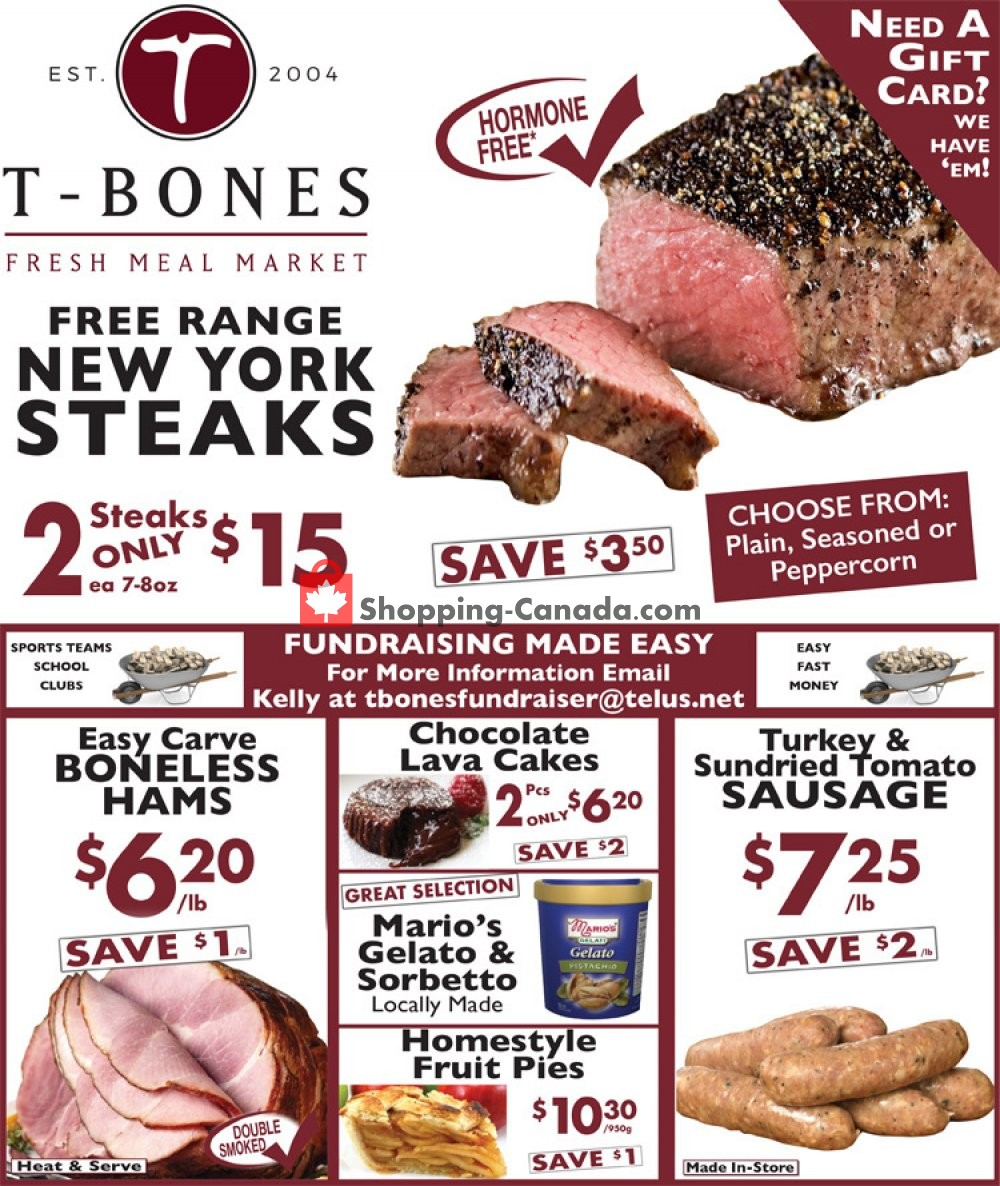 Flyer T-Bone's Canada - from Wednesday October 3, 2018 to Tuesday October 16, 2018
