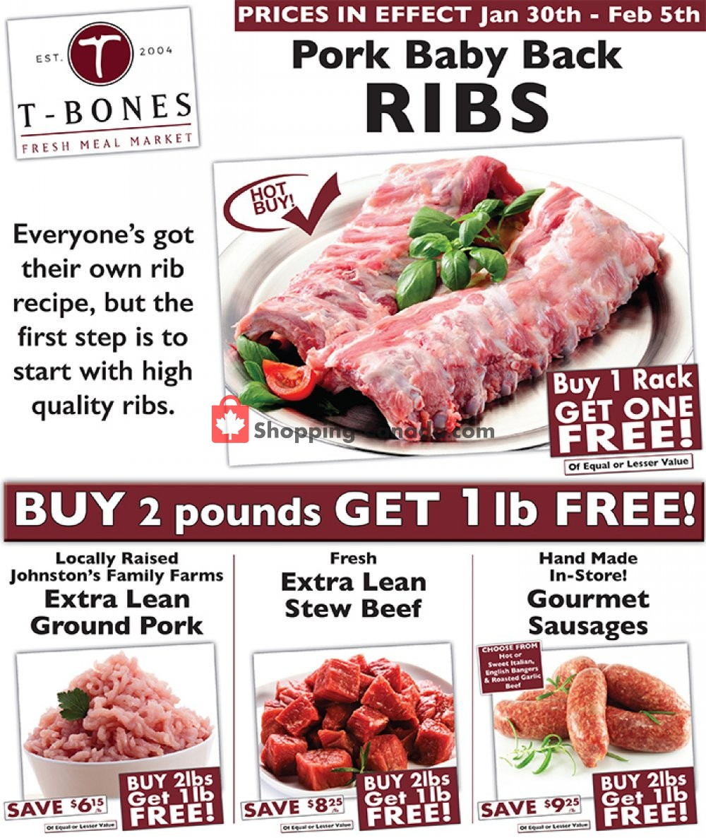 Flyer T-Bone's Canada - from Wednesday January 30, 2019 to Tuesday February 5, 2019