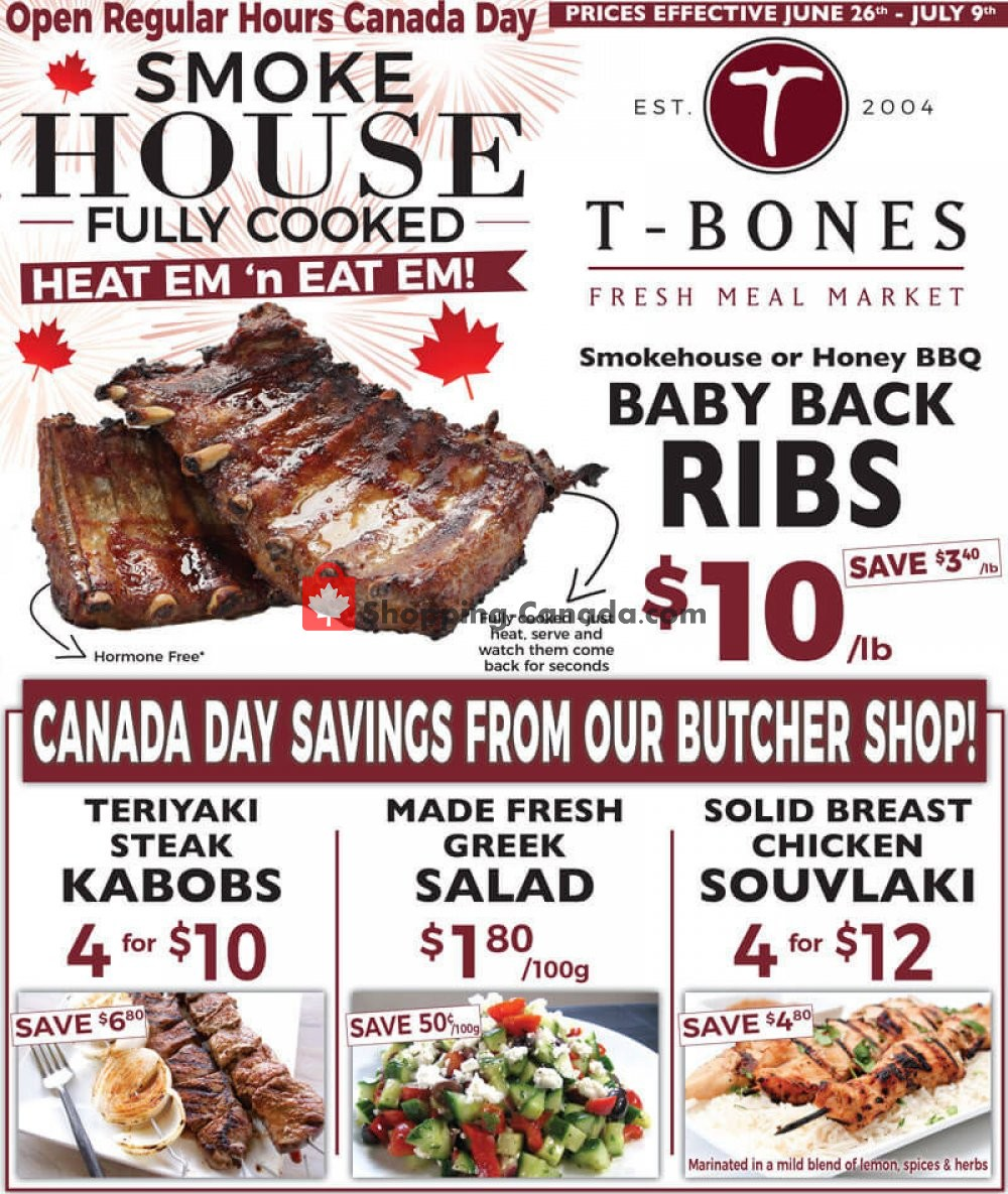 Flyer T-Bone's Canada - from Wednesday June 26, 2019 to Tuesday July 9, 2019