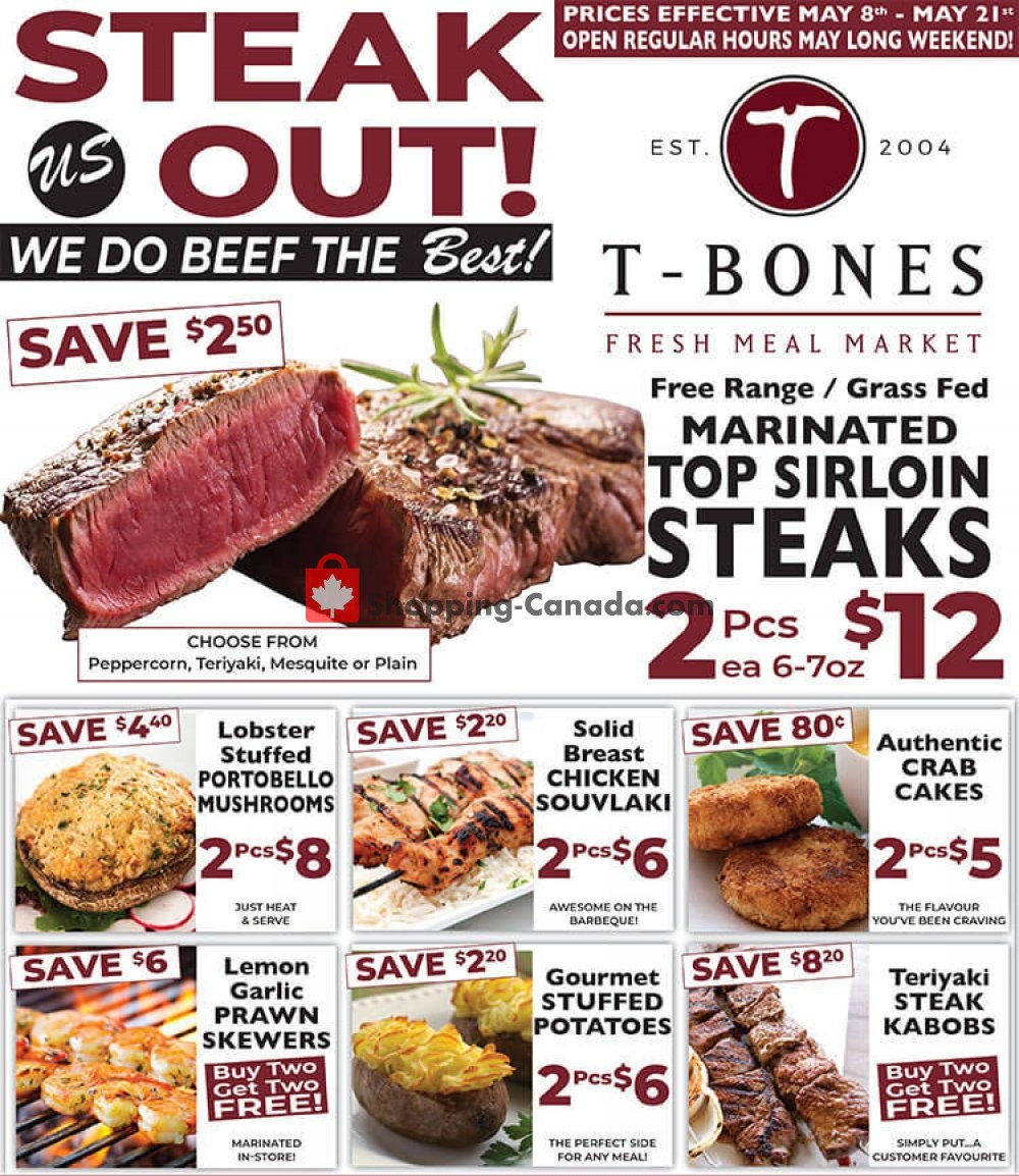 Flyer T-Bone's Canada - from Wednesday May 8, 2019 to Tuesday May 21, 2019