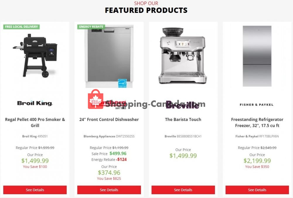 Flyer TA Appliances & Barbecues Canada - from Monday July 13, 2020 to Sunday July 19, 2020