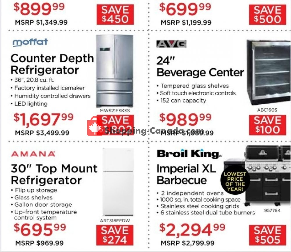 Flyer TA Appliances & Barbecues Canada - from Thursday July 18, 2019 to Wednesday July 31, 2019
