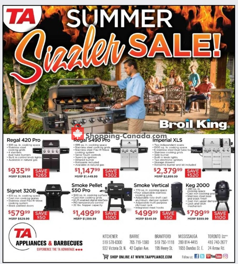Flyer TA Appliances & Barbecues Canada - from Thursday June 13, 2019 to Sunday June 30, 2019