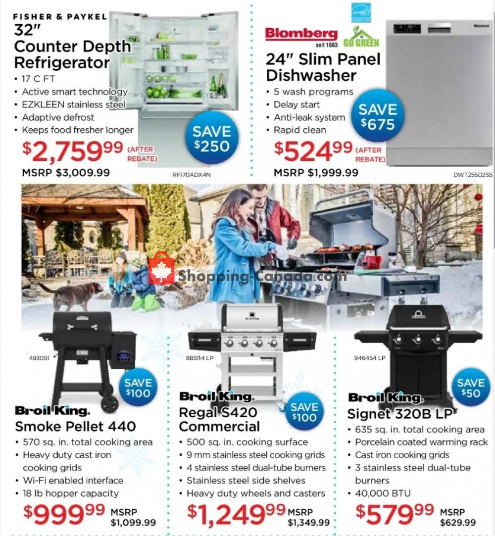 Flyer TA Appliances & Barbecues Canada - from Monday January 13, 2020 to Friday January 31, 2020