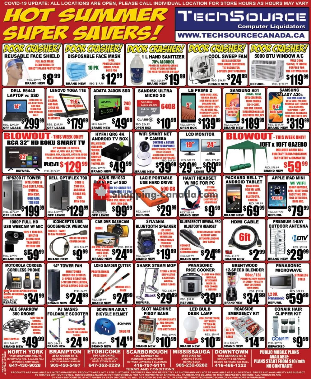 Flyer TechSource Canada Canada - from Saturday May 30, 2020 to Friday June 19, 2020