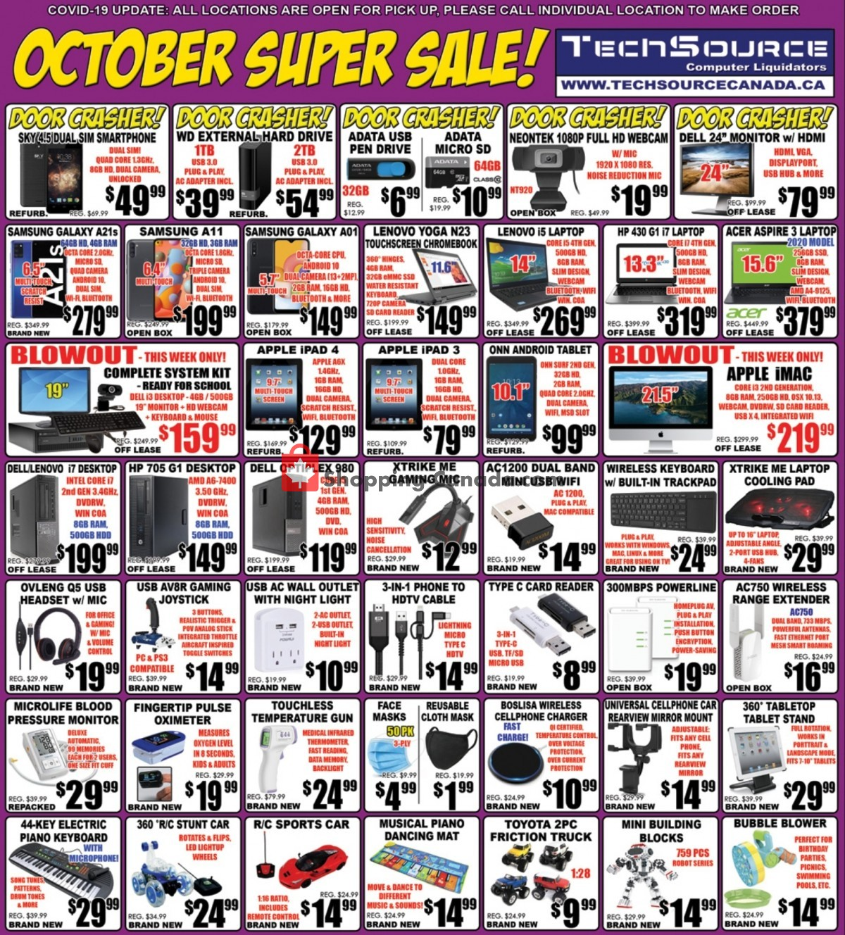 Flyer TechSource Canada Canada - from Friday October 1, 2021 to Sunday October 31, 2021