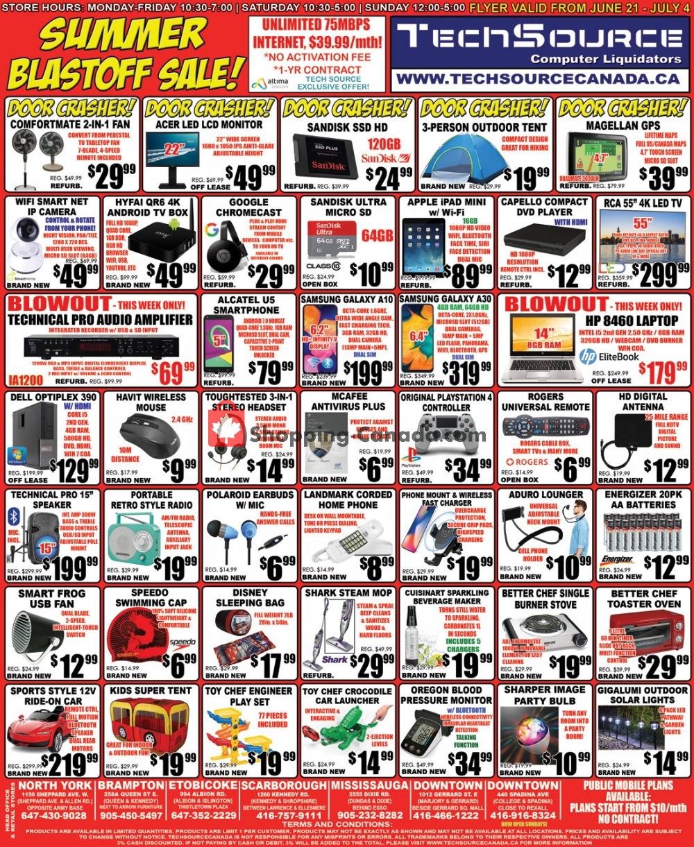 Flyer TechSource Canada Canada - from Friday June 21, 2019 to Thursday July 4, 2019