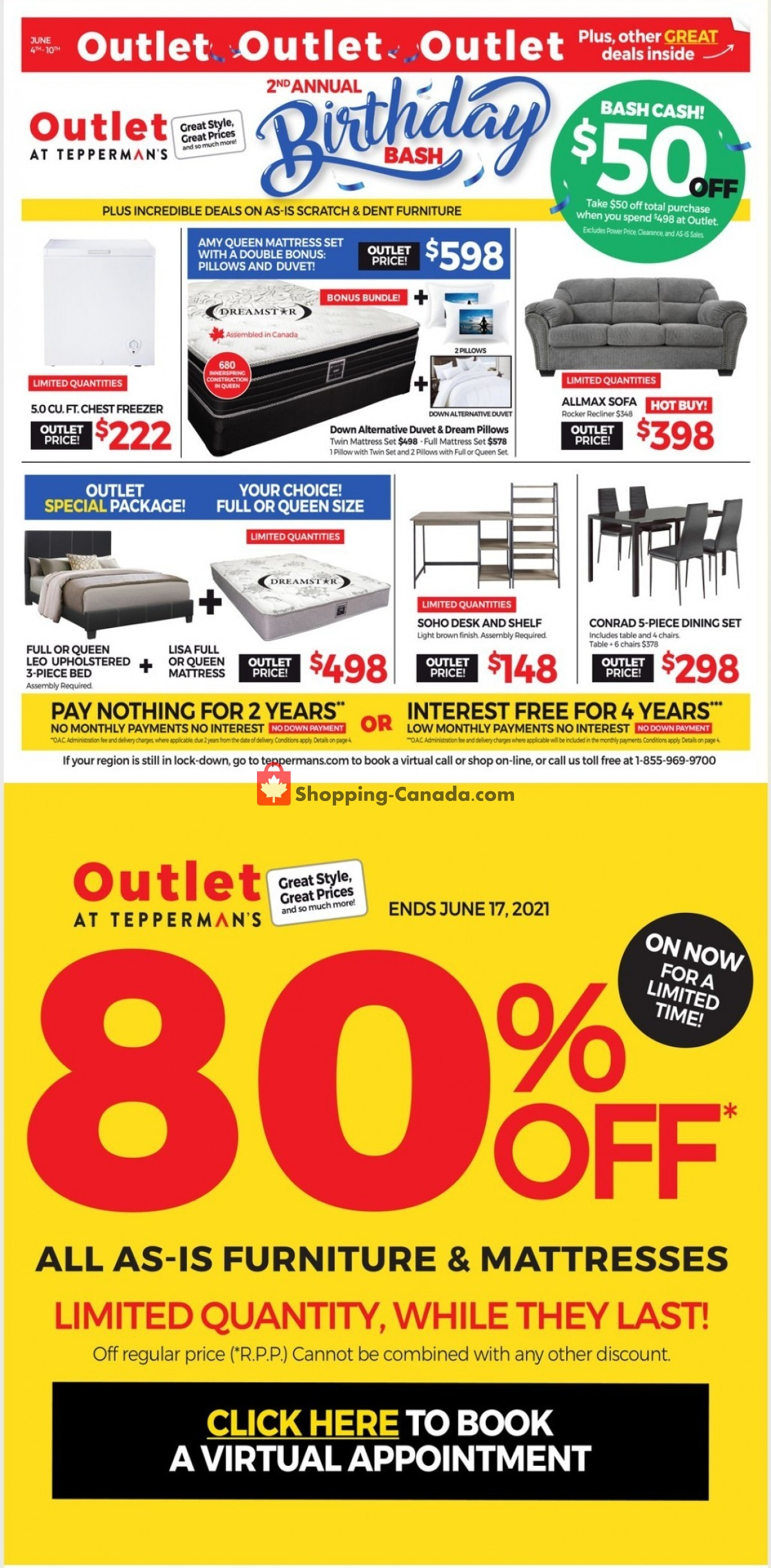 Flyer Tepperman's  Canada - from Friday June 4, 2021 to Thursday June 10, 2021
