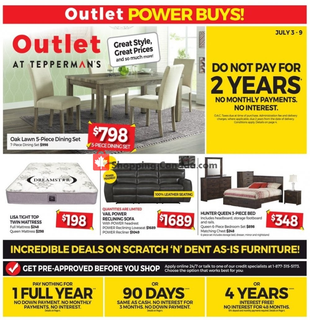 Flyer Tepperman's  Canada - from Friday July 3, 2020 to Thursday July 9, 2020
