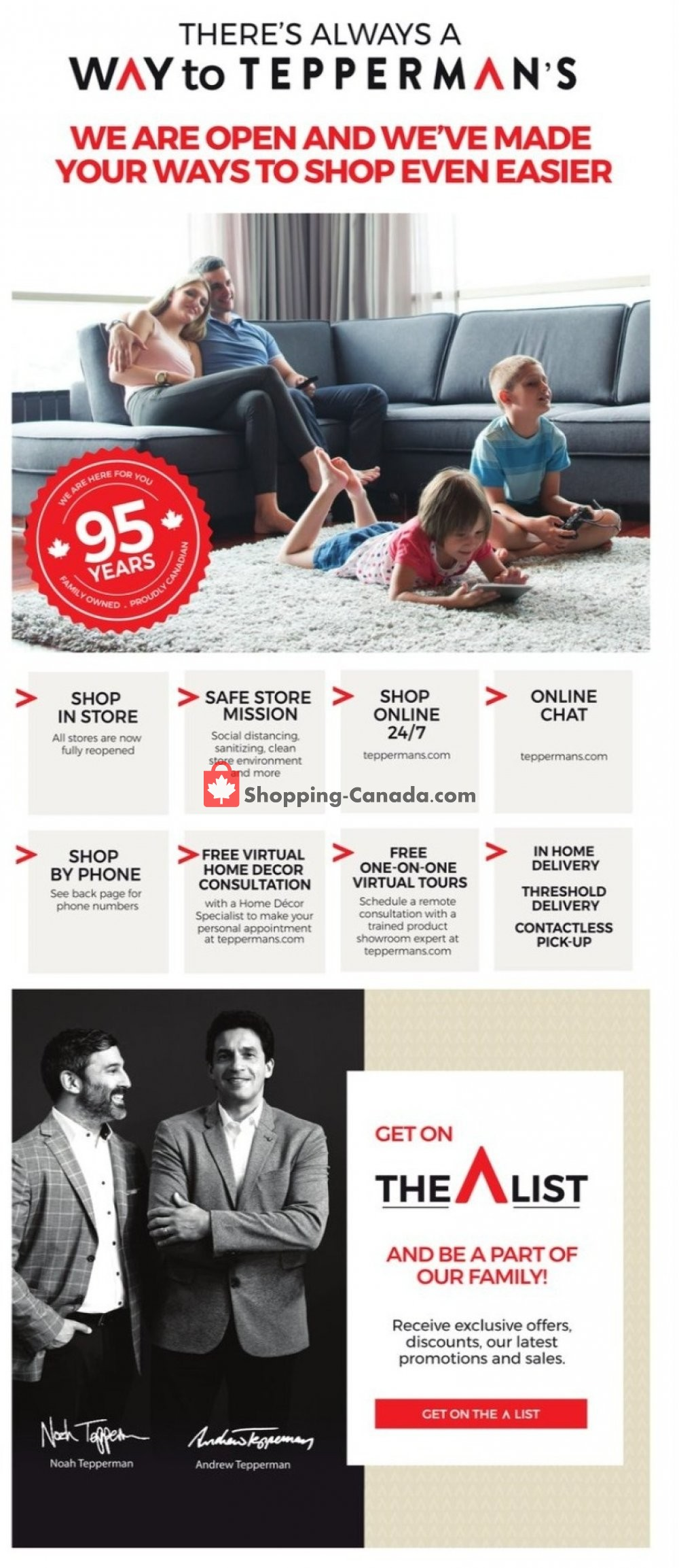 Flyer Tepperman's  Canada - from Friday October 9, 2020 to Thursday October 15, 2020
