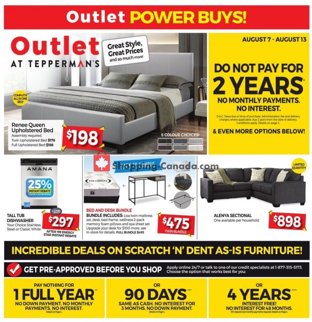 Flyer Tepperman's  Canada - from Friday August 7, 2020 to Thursday August 13, 2020