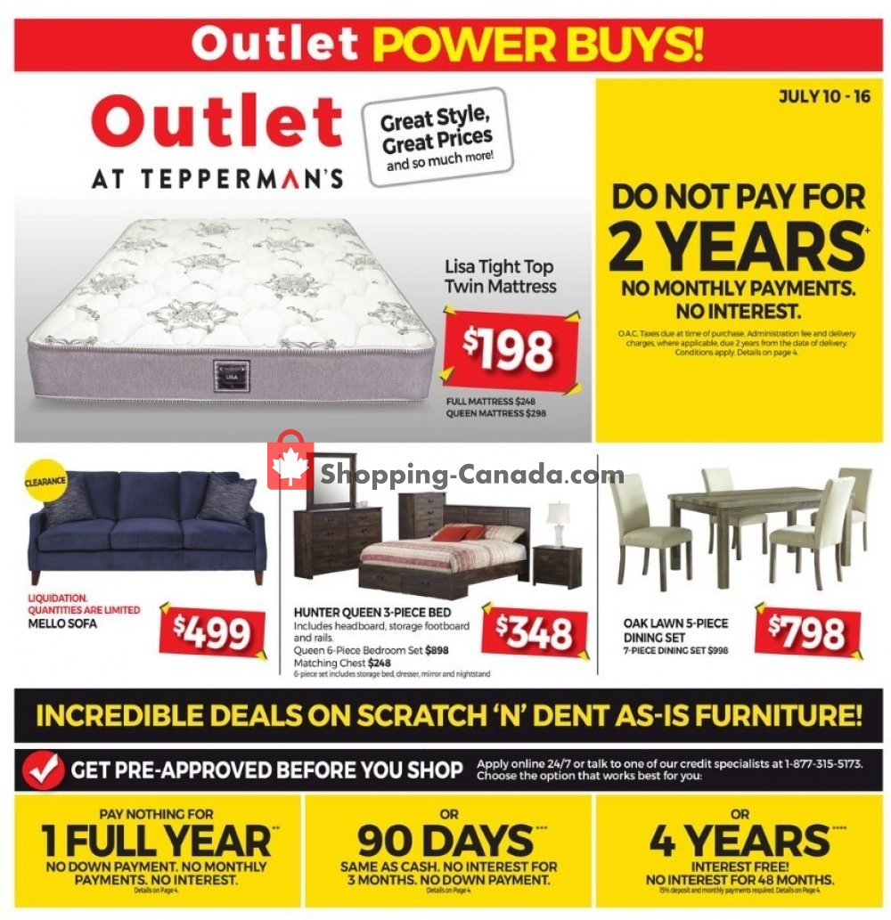 Flyer Tepperman's  Canada - from Friday July 10, 2020 to Thursday July 16, 2020