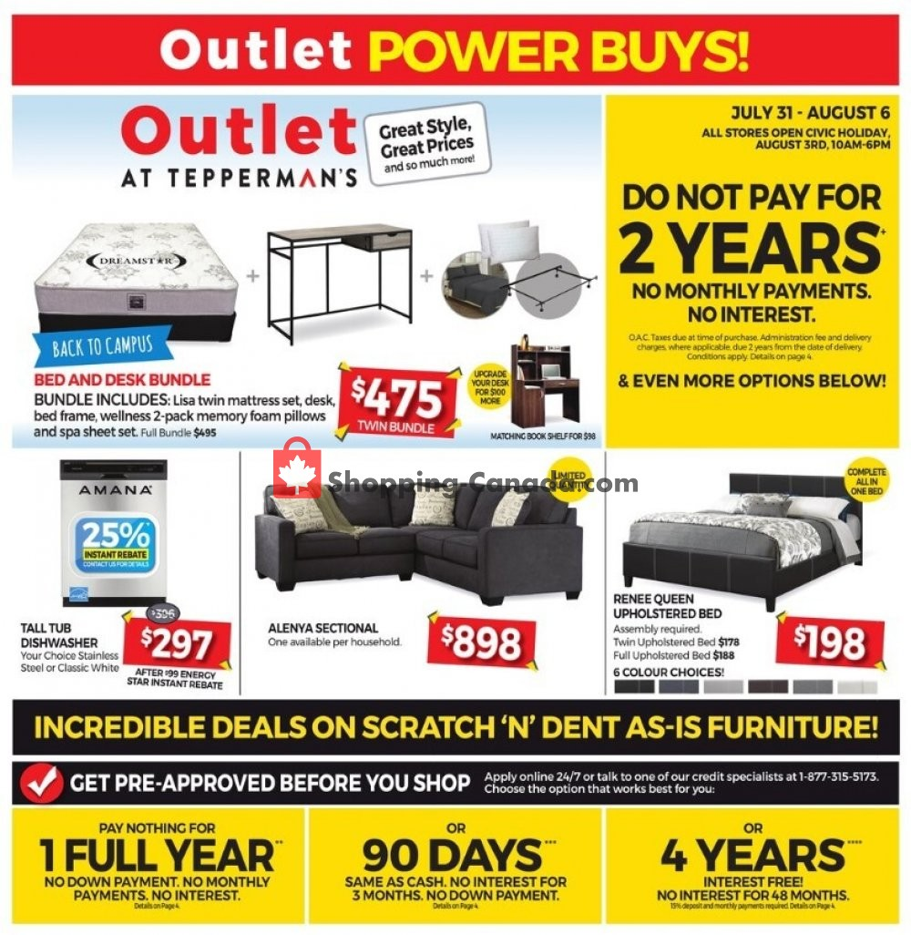 Flyer Tepperman's  Canada - from Friday July 31, 2020 to Thursday August 6, 2020