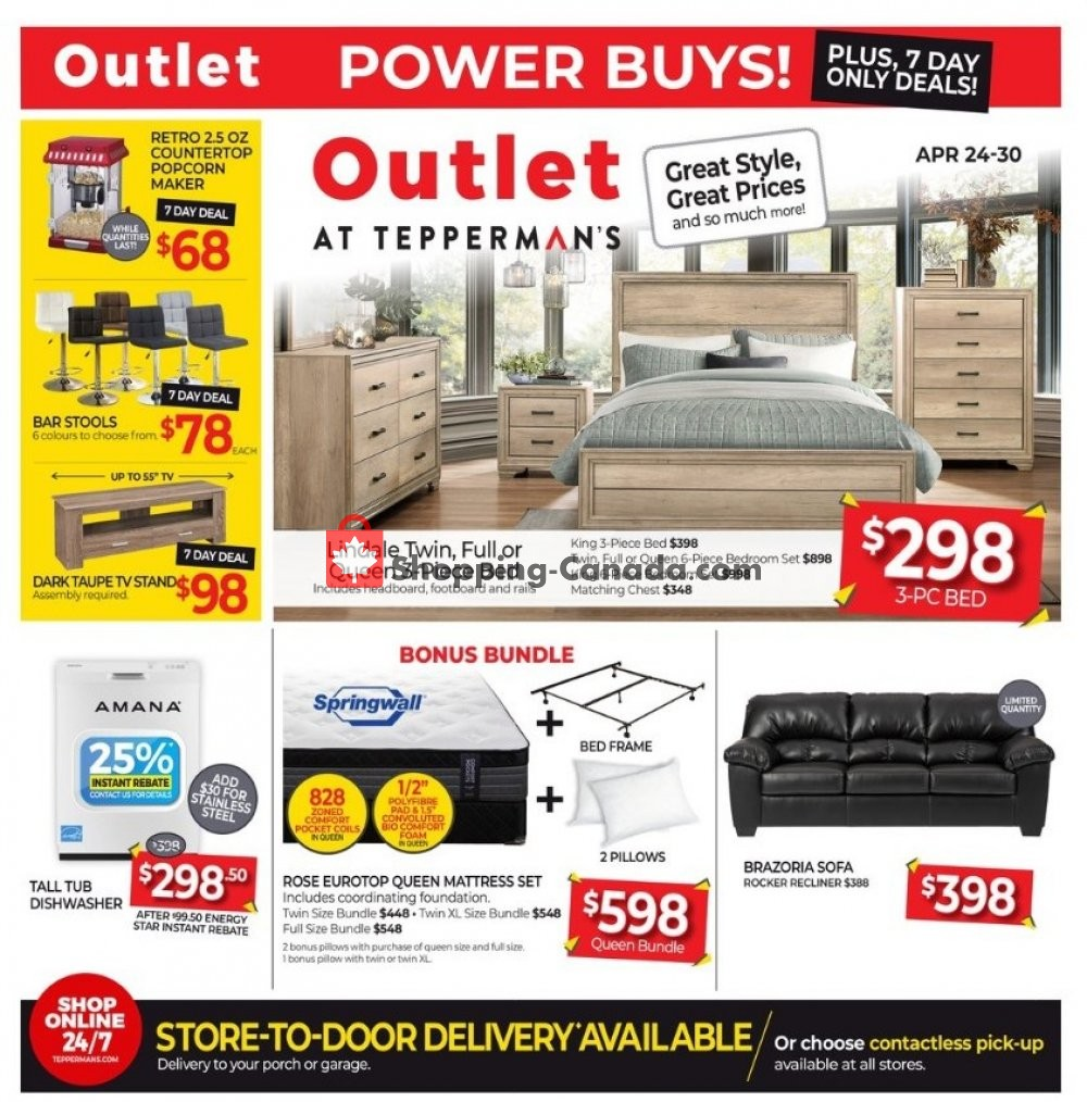 Flyer Tepperman's  Canada - from Friday April 24, 2020 to Thursday April 30, 2020
