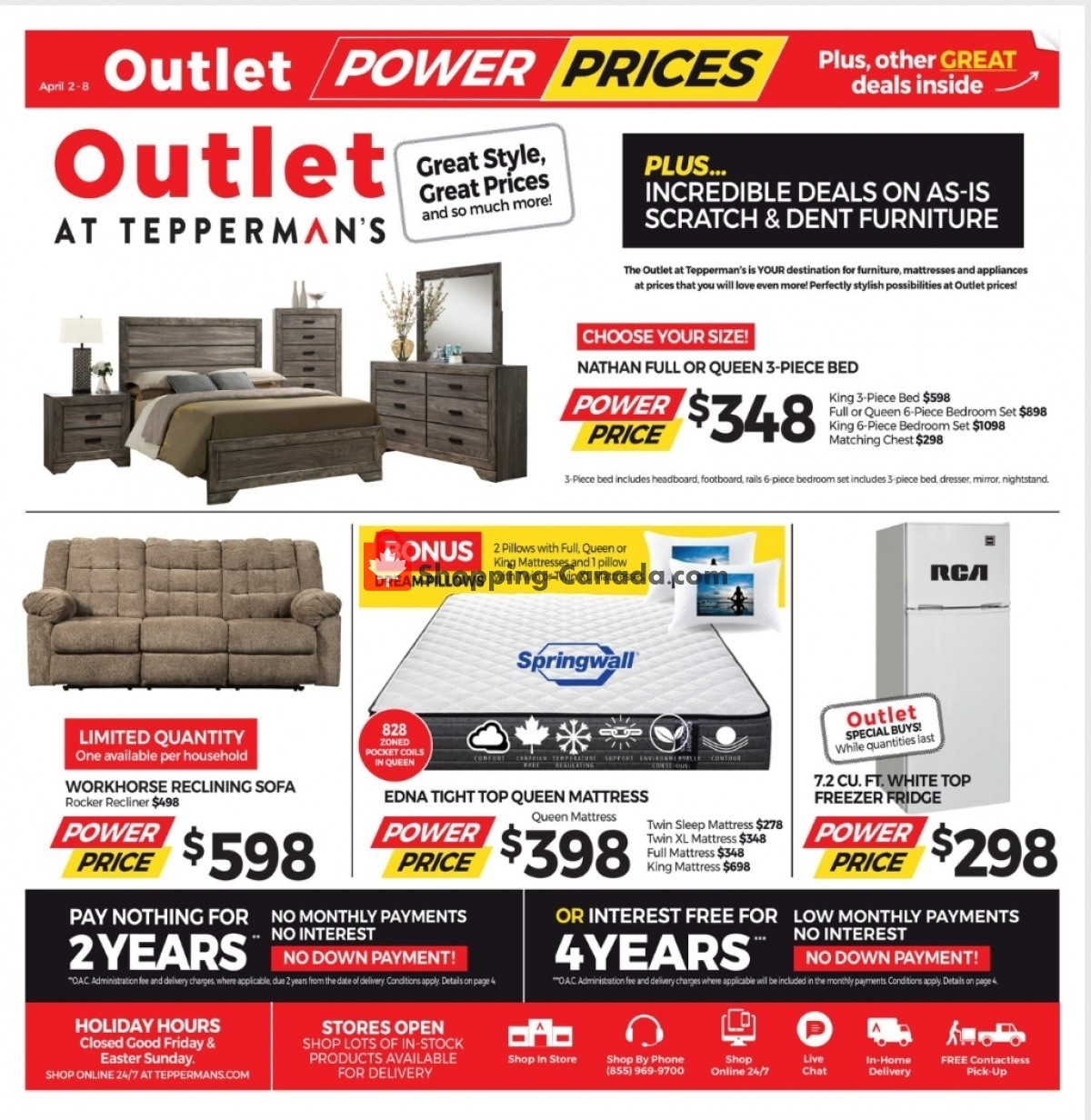 Flyer Tepperman's  Canada - from Friday April 2, 2021 to Thursday April 8, 2021