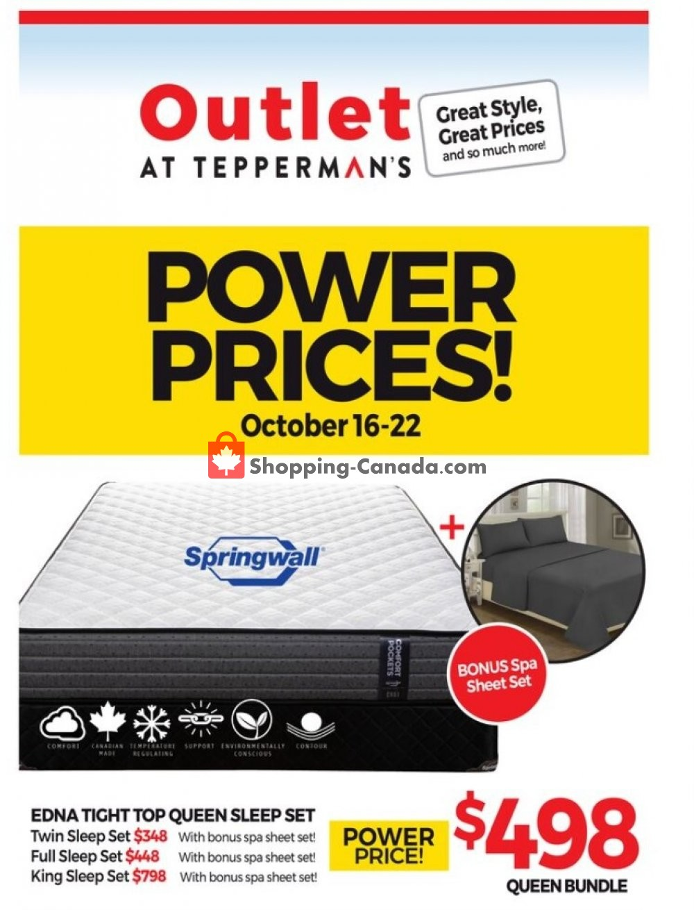 Flyer Tepperman's  Canada - from Friday October 16, 2020 to Thursday October 22, 2020