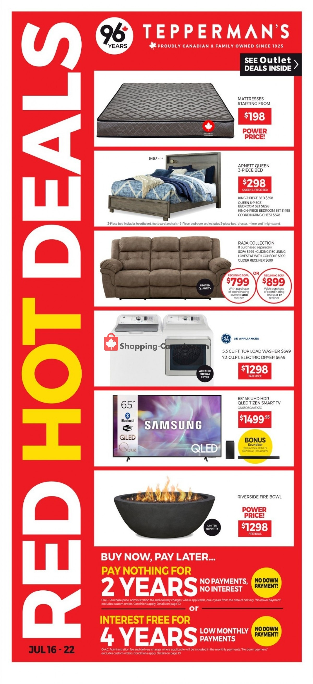 Flyer Tepperman's  Canada - from Friday July 16, 2021 to Thursday July 22, 2021