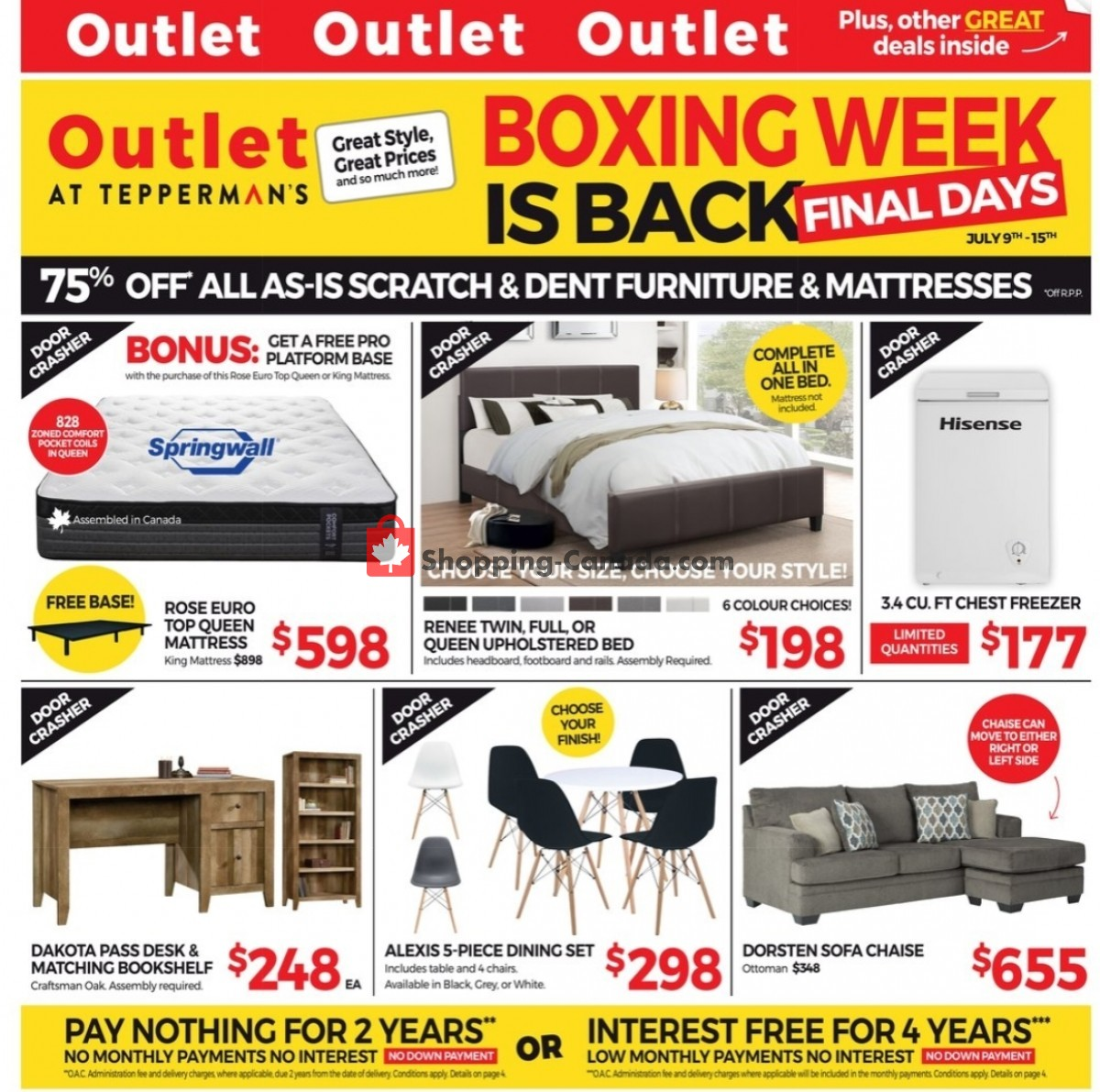 Flyer Tepperman's  Canada - from Friday July 9, 2021 to Thursday July 15, 2021