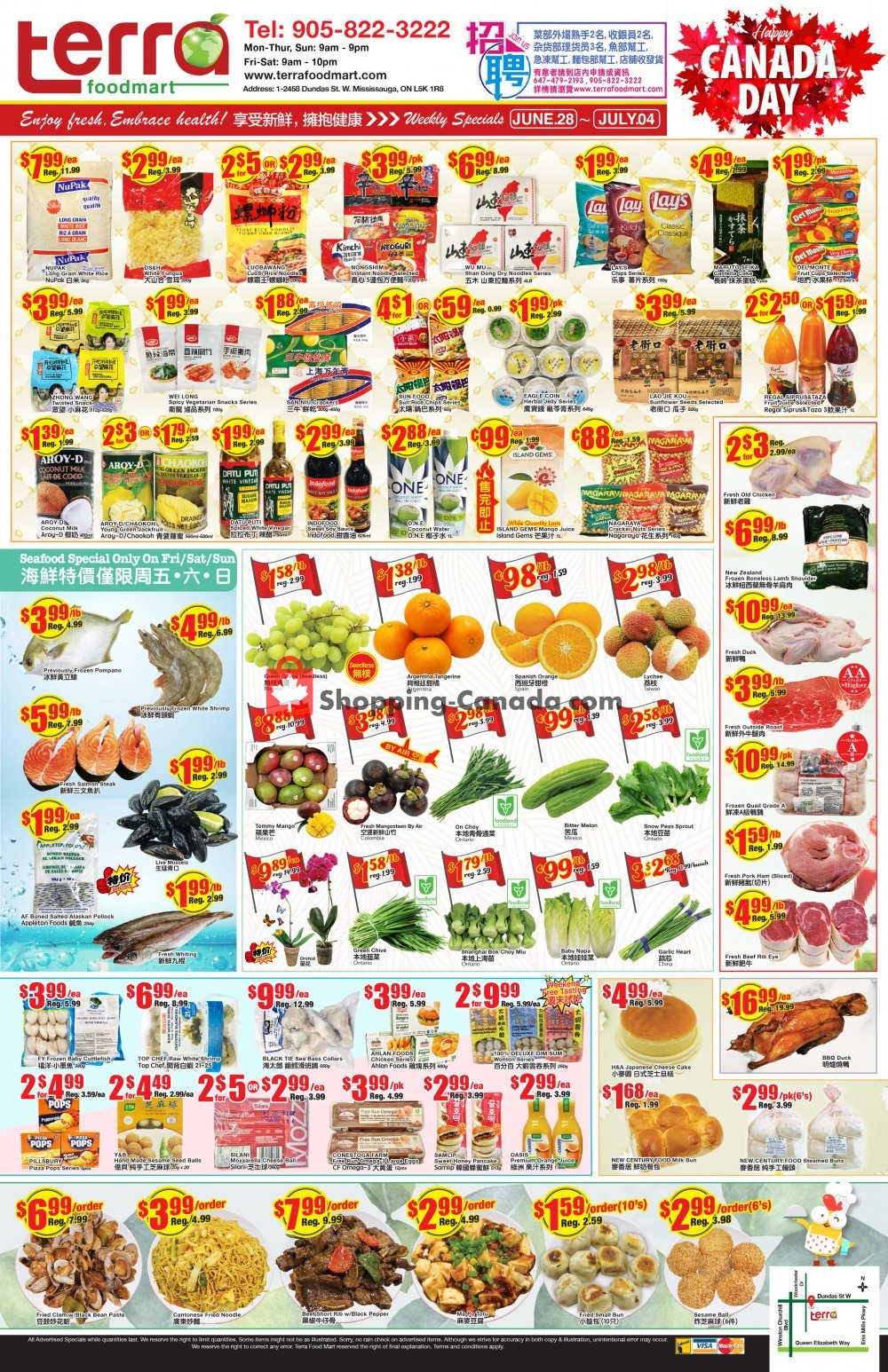 Flyer Terra Foodmart Canada - from Friday June 28, 2019 to Thursday July 4, 2019