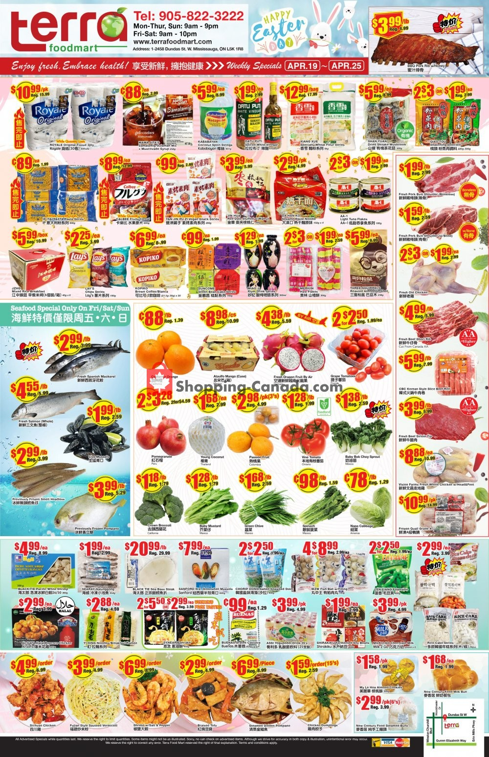Flyer Terra Foodmart Canada - from Friday April 19, 2019 to Thursday April 25, 2019