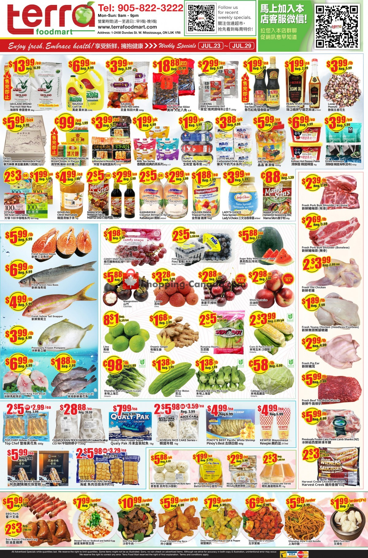 Flyer Terra Foodmart Canada - from Friday July 23, 2021 to Thursday July 29, 2021
