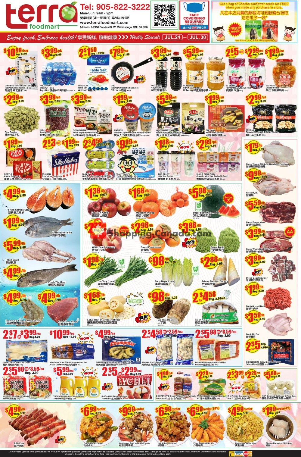 Flyer Terra Foodmart Canada - from Friday July 24, 2020 to Thursday July 30, 2020