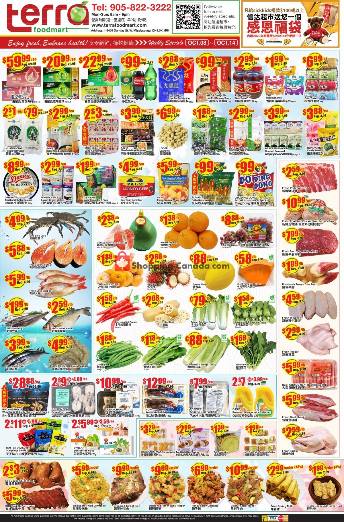 Flyer Terra Foodmart Canada - from Friday October 8, 2021 to Thursday October 14, 2021
