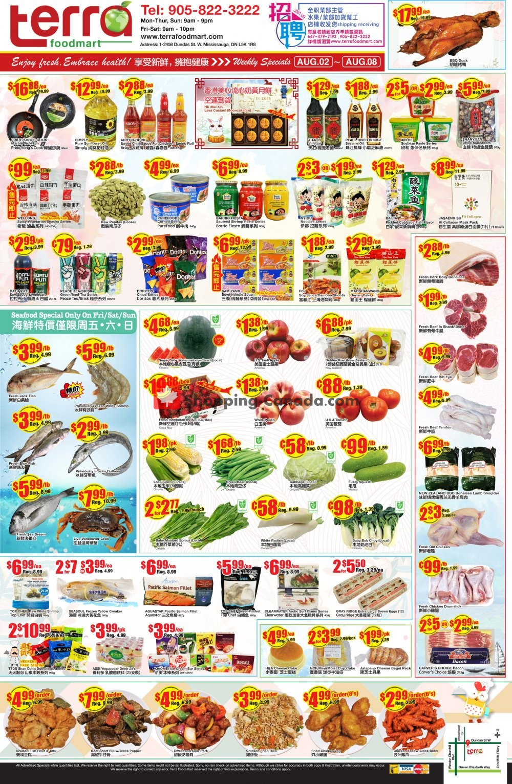 Flyer Terra Foodmart Canada - from Friday August 2, 2019 to Thursday August 8, 2019