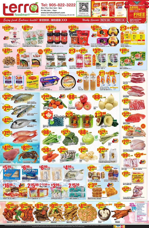 Flyer Terra Foodmart Canada - from Friday November 8, 2019 to Thursday November 14, 2019