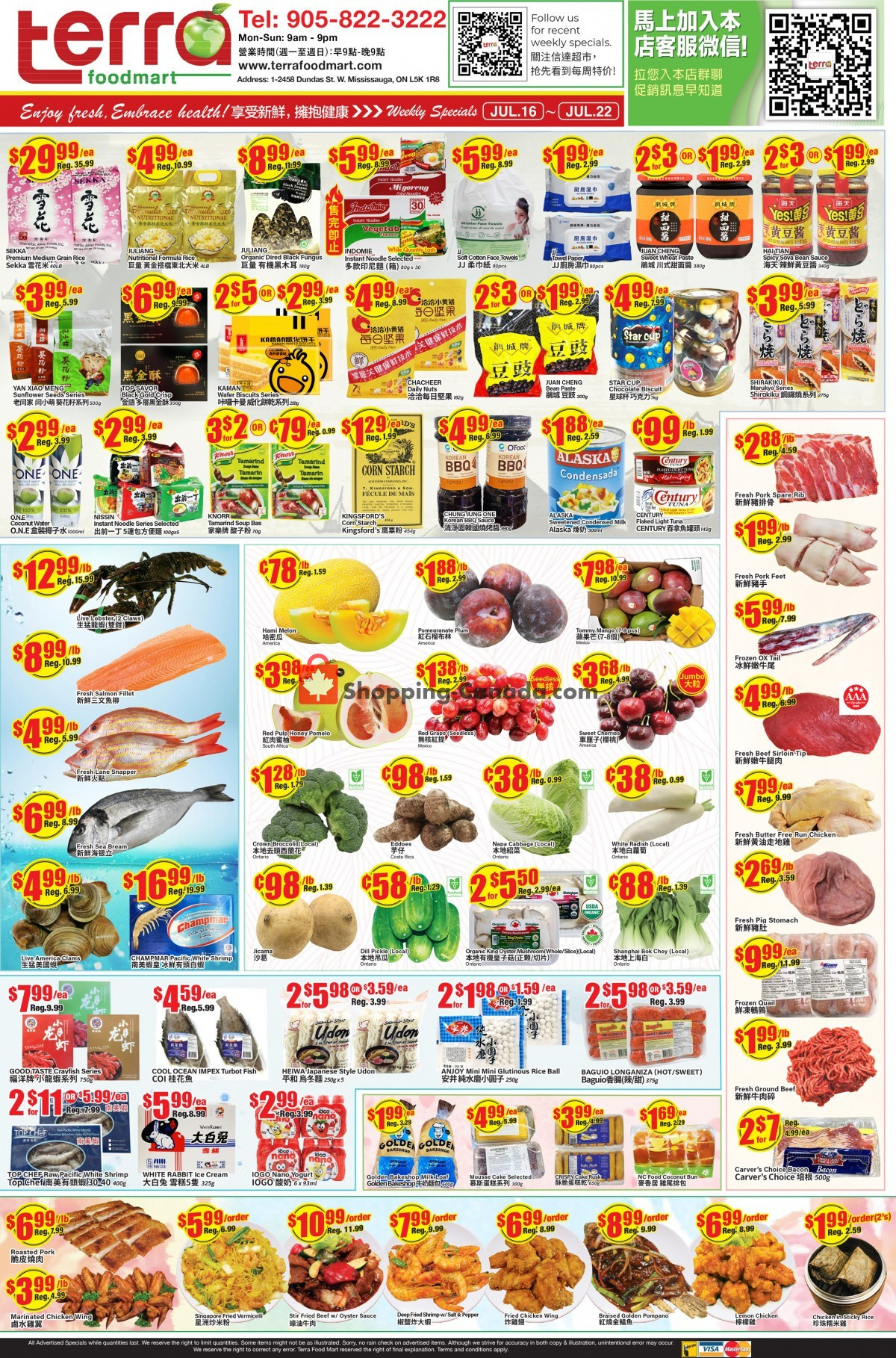 Flyer Terra Foodmart Canada - from Friday July 16, 2021 to Thursday July 22, 2021