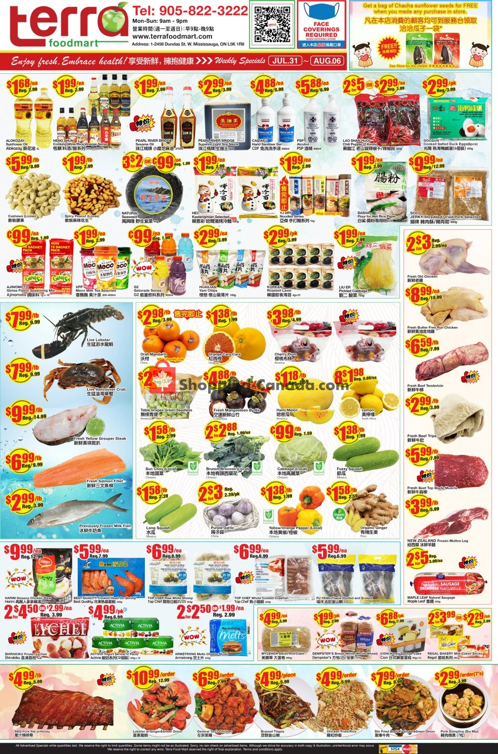 Flyer Terra Foodmart Canada - from Friday July 31, 2020 to Thursday August 6, 2020