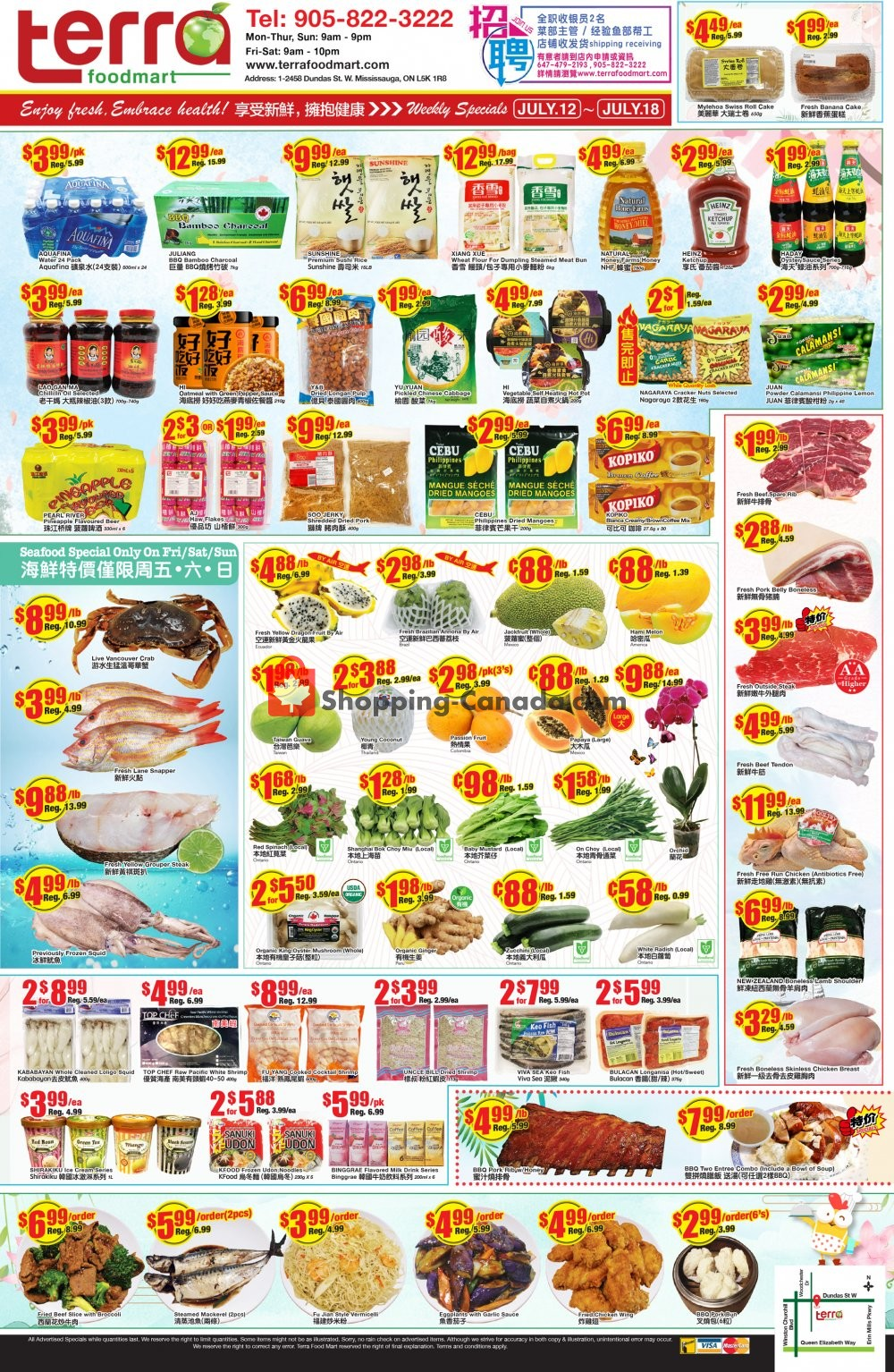 Flyer Terra Foodmart Canada - from Friday July 12, 2019 to Thursday July 18, 2019