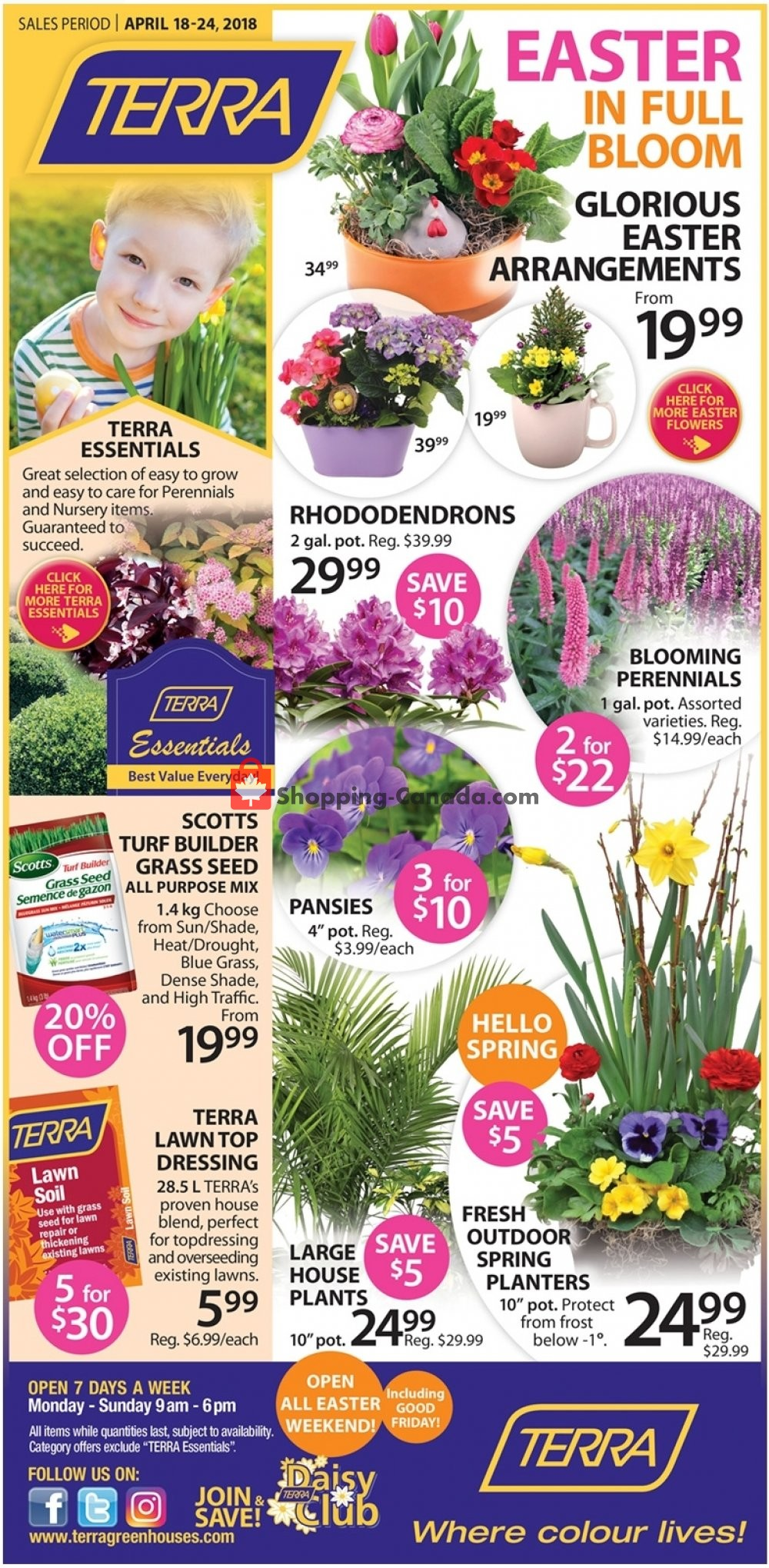 Flyer Terra Green Houses Canada - from Thursday April 18, 2019 to Wednesday April 24, 2019