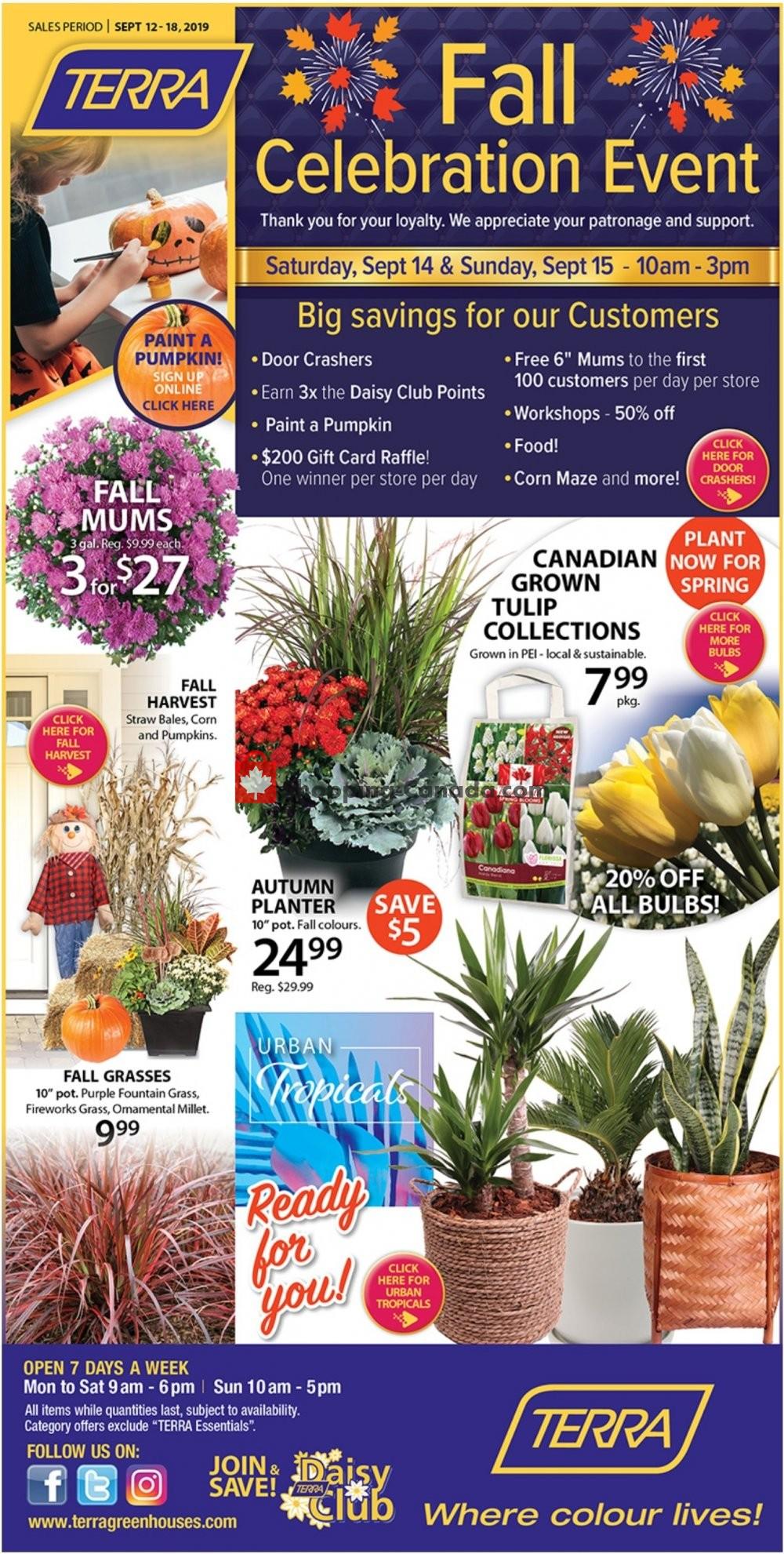 Flyer Terra Green Houses Canada - from Thursday September 12, 2019 to Wednesday September 18, 2019
