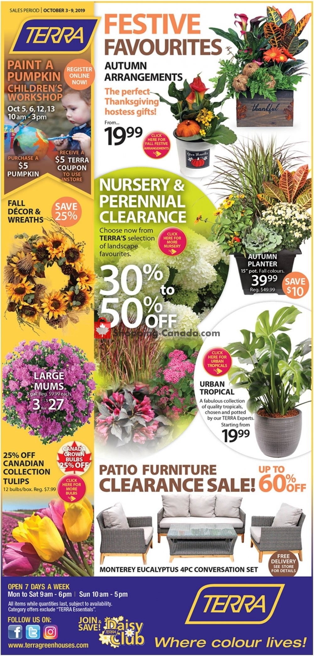 Flyer Terra Green Houses Canada - from Thursday October 3, 2019 to Wednesday October 9, 2019