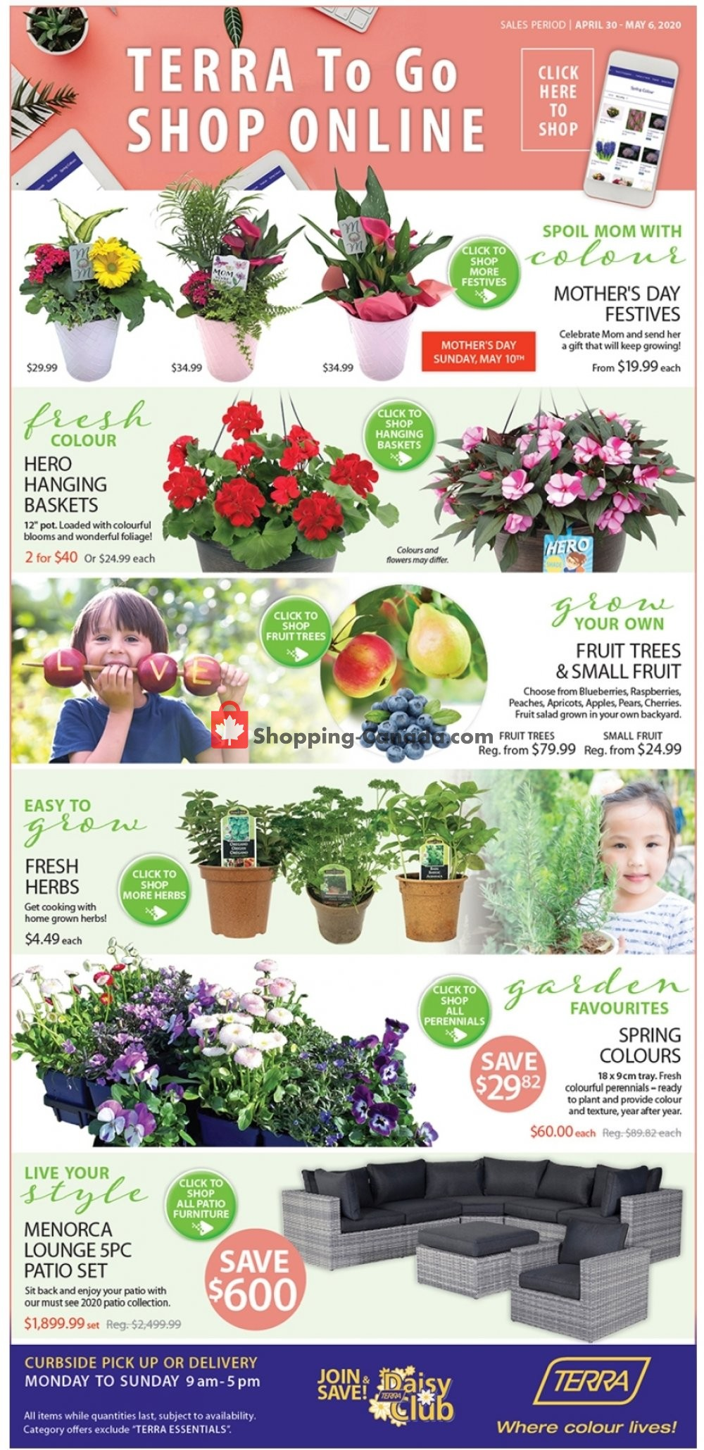 Flyer Terra Green Houses Canada - from Thursday April 30, 2020 to Wednesday May 6, 2020