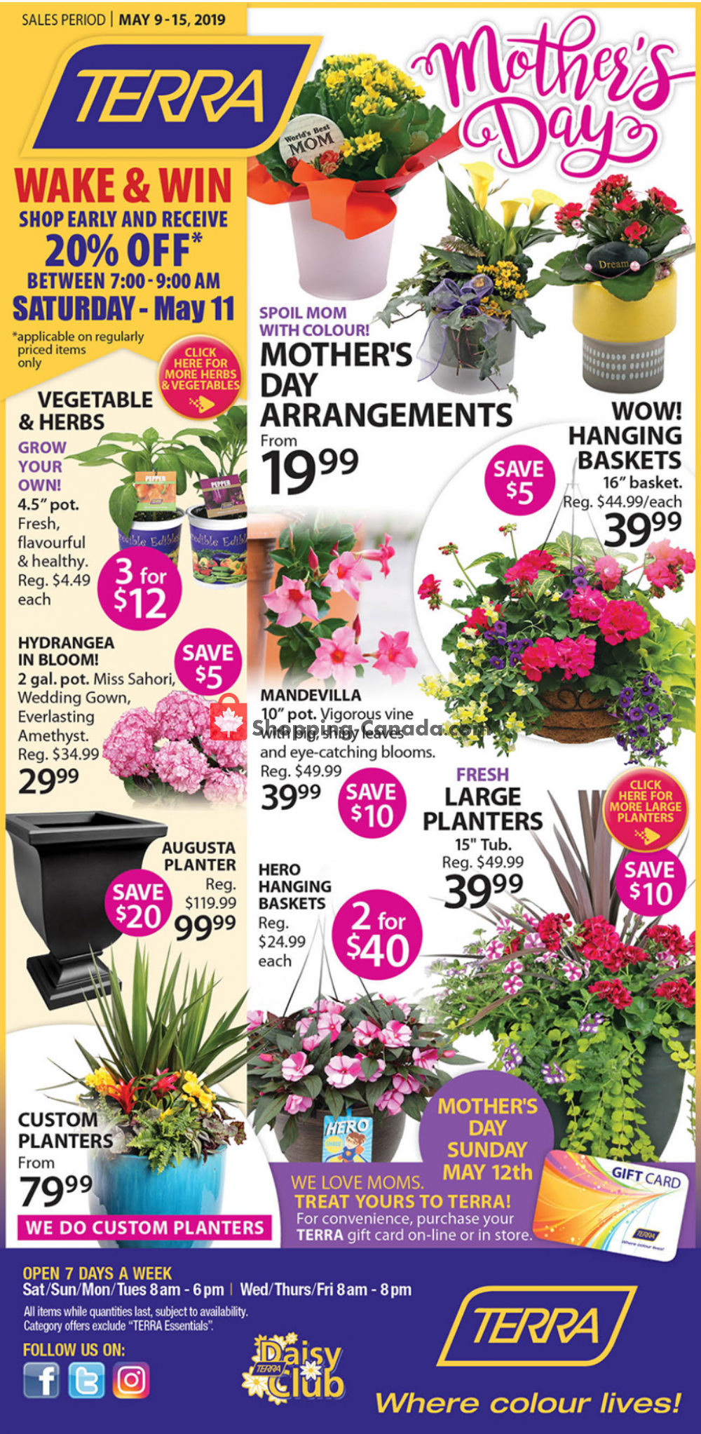 Flyer Terra Green Houses Canada - from Thursday May 9, 2019 to Wednesday May 15, 2019