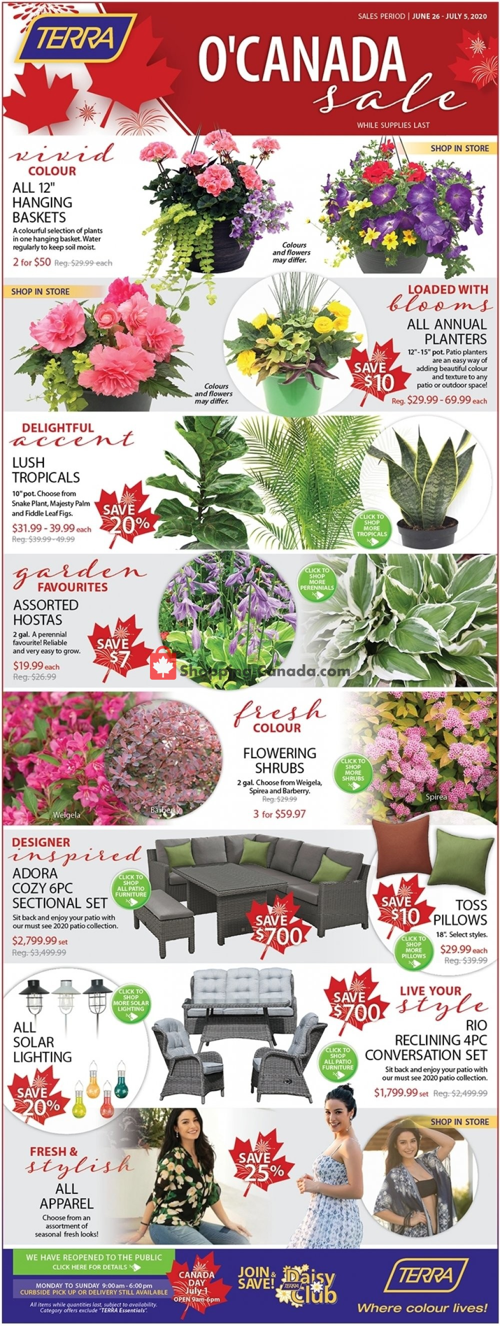 Flyer Terra Green Houses Canada - from Friday June 26, 2020 to Sunday July 5, 2020