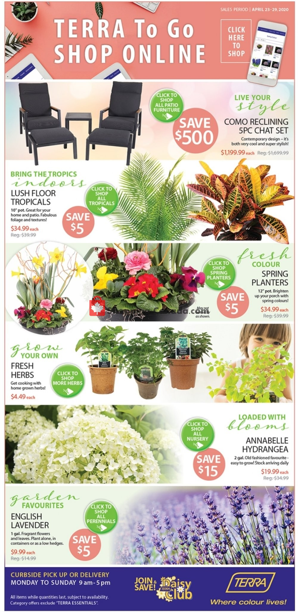 Flyer Terra Green Houses Canada - from Thursday April 23, 2020 to Wednesday April 29, 2020