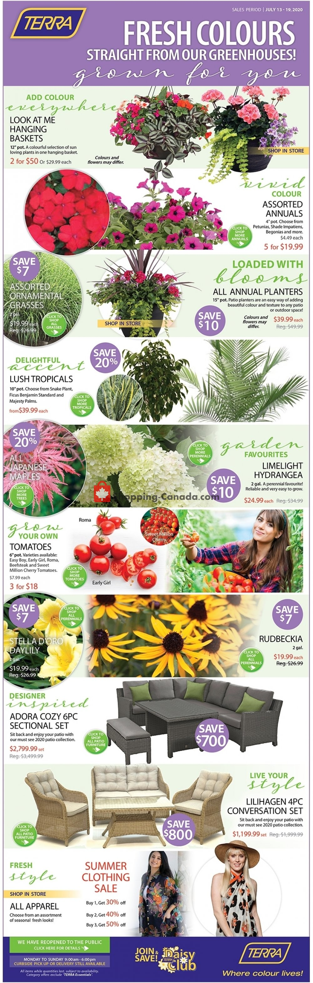 Flyer Terra Green Houses Canada - from Monday July 13, 2020 to Sunday July 19, 2020