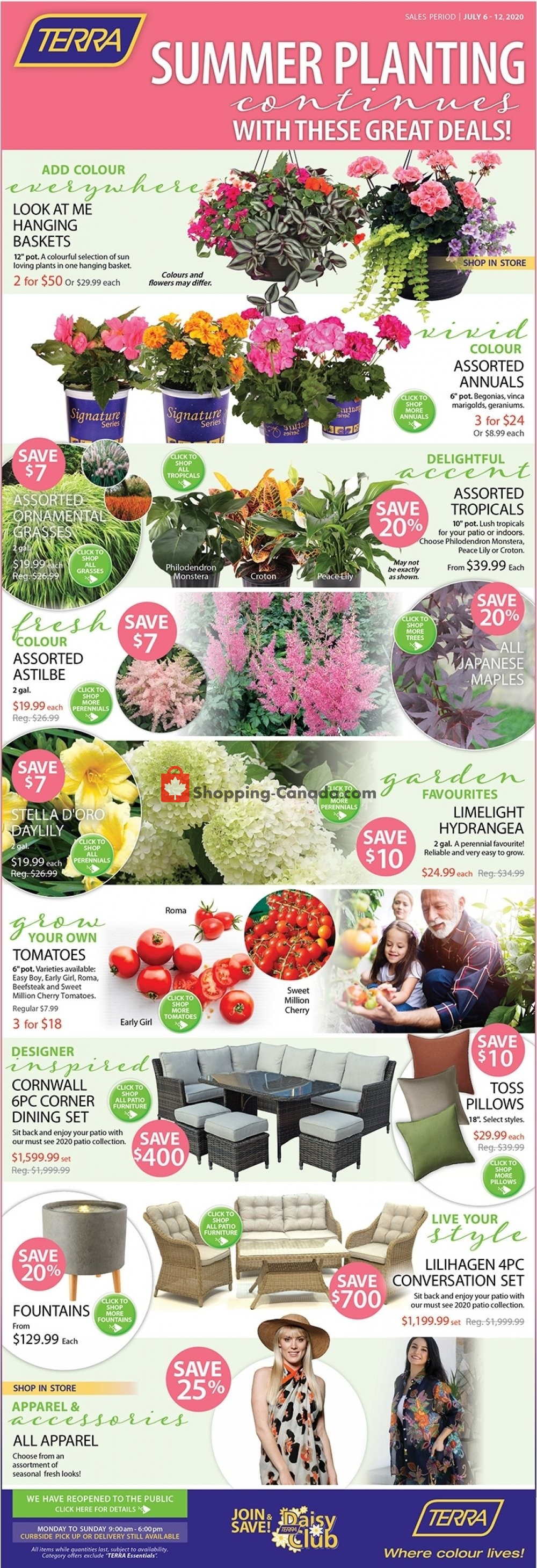 Flyer Terra Green Houses Canada - from Monday July 6, 2020 to Sunday July 12, 2020