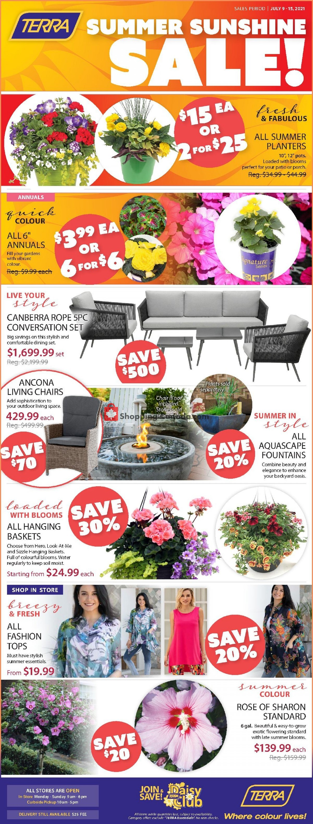 Flyer Terra Green Houses Canada - from Friday July 9, 2021 to Thursday July 15, 2021