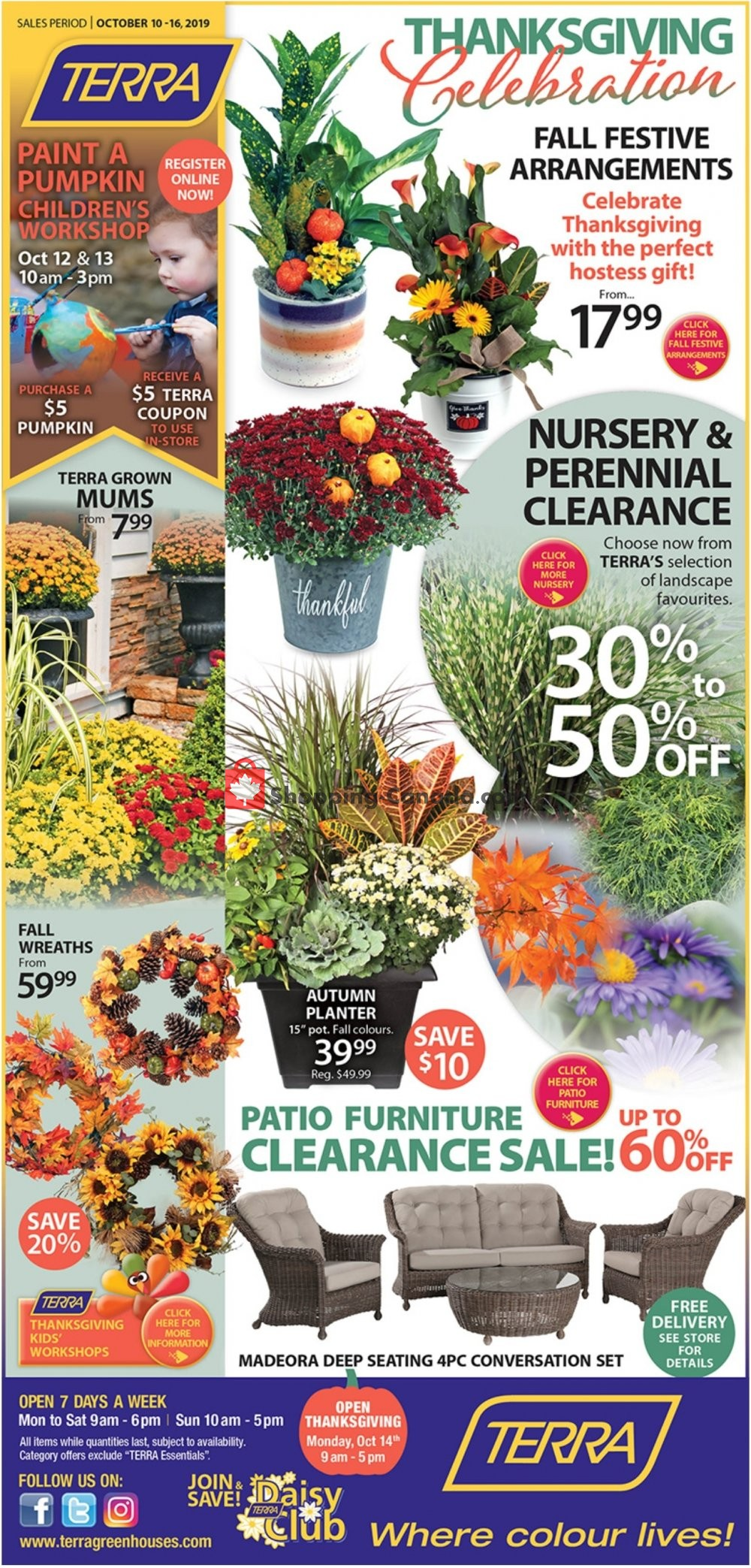Flyer Terra Green Houses Canada - from Thursday October 10, 2019 to Wednesday October 16, 2019