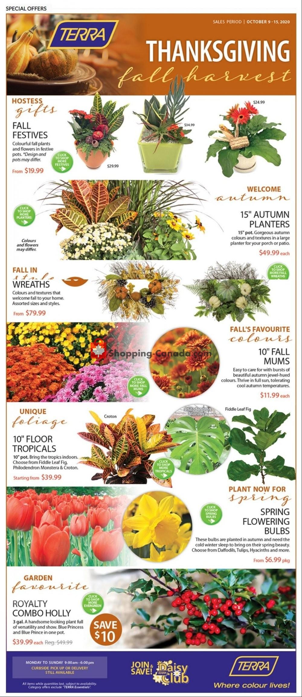 Flyer Terra Green Houses Canada - from Friday October 9, 2020 to Thursday October 15, 2020