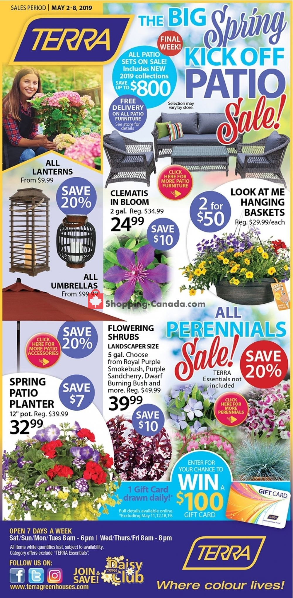 Flyer Terra Green Houses Canada - from Thursday May 2, 2019 to Wednesday May 8, 2019